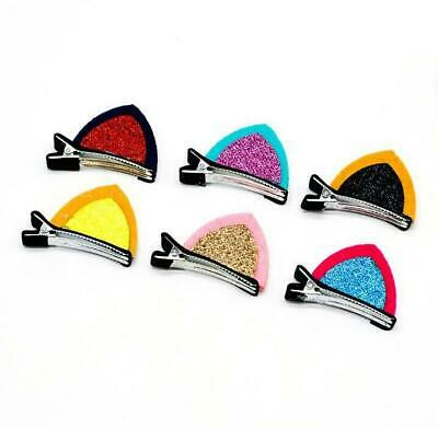 $ CDN10.01 • Buy 50pcs Large Cat Ear Hair Clips Girls Accessories Children Hairgrips Party Gift