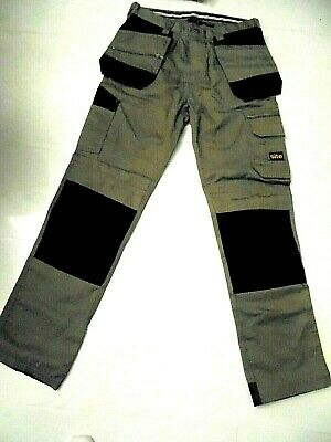 £15 • Buy Site Work Trousers Size 30w 32l Brown/black Workwear