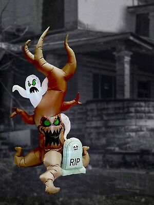 $ CDN86.52 • Buy 8 Foot Halloween Inflatable Yard Decoration Grave Scene Ghost Tombstone Blow Up