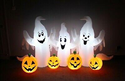 $ CDN94.04 • Buy 6 Foot Halloween Inflatable Party Blowup Yard Decoration Ghosts Pumpkins Patch