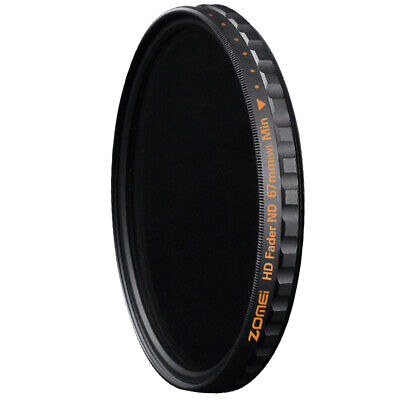AU19.99 • Buy ND Filter Zomei 67mm Ultra Slim HD ND2-400 18 Layer Multi-Coated Fader Variable