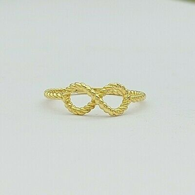 AU119 • Buy Ladies Ring 9ct (375, 9K) Yellow Gold Rope Pattern Infinity Dress Ring