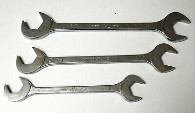 $90 • Buy Three Mac Four Way Angle Head Open End Wrenches 1  1-1/8  & 1-1/4  Old Style