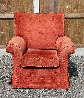 £400 • Buy Duresta Red Velvet Armchair In Beautiful Condition With Free Delivery
