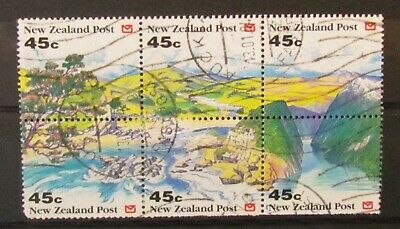 AU1.43 • Buy New Zealand Postage Stamps Block Of 6 Making View Used Unmounted