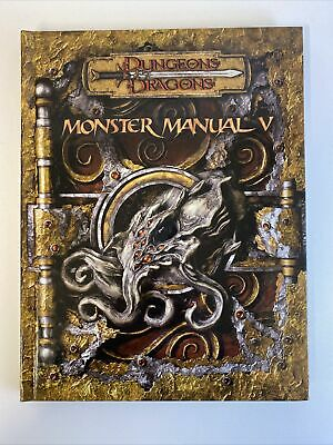 AU280 • Buy Dungeons And Dragons Monster Manual V D&D Edition V3.5 First Edition 2007 D20