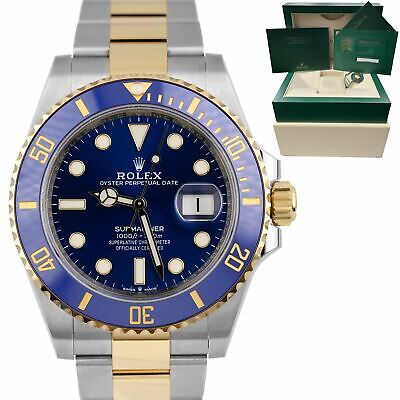 $ CDN21222.50 • Buy BRAND NEW Rolex Submariner Date 41mm Ceramic Two-Tone Gold Blue Watch 126613 LB