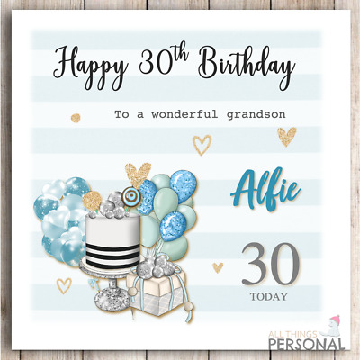 £2.99 • Buy Personalised Birthday Card Blue For Special Son Grandson Friend Nephew Brother
