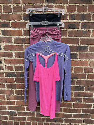$ CDN41.23 • Buy Lululemon Lot Of 4: Tank, Long Sleeve Top & 2 Pants Size 4