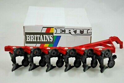 £22.99 • Buy 1:32 Britains ERTL 0645 Farm 6 FURROW Trailed PLOUGH / PLOW For Towing Ring Hook