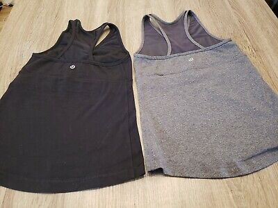 $ CDN18.73 • Buy LOT OF 2 Women's Lululemon Black Tank And Gray Tank Top. Size 4. GORGEOUS