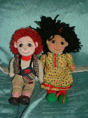 £59.99 • Buy Rosie And Jim 10  Beanie Plush Dolls Soft Toys By Golden Bear Products (b)