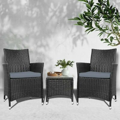 AU199.20 • Buy Gardeon Patio Furniture 3 Piece Outdoor Setting Bistro Set Chair Table Wicker