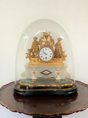 £375 • Buy Late 19th Century French Gilt Metal Clock With Glass Dome