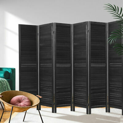 AU175.09 • Buy Artiss 6 Panel Room Divider Screen Privacy Wood Dividers Timber Stand Black