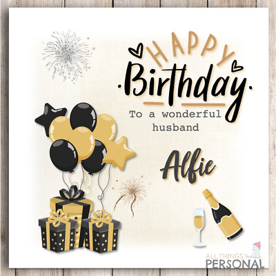 £2.99 • Buy Personalised Birthday Card For Son Grandson Husband Friend Brother Nephew Dad