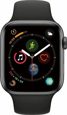 $ CDN249.96 • Buy Apple Watch Series 4 44mm Space Gray Aluminum Case. Cellular & Black Band