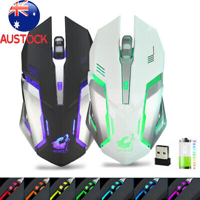 AU15.49 • Buy LED Wireless Gaming Mouse X7 Mice Ergonomic Optical ,For PC Laptop Rechargeable