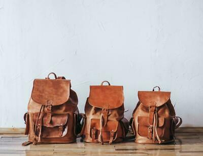 AU44.64 • Buy Women's Genuine Leather Vintage Laptop Backpack Rucksack Messenger Bag Satchel