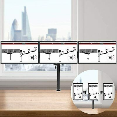 £34.99 • Buy Triple Arm Desk Mount 13 -24  Screen TV LCD LED Computer Monitor Bracket Stand