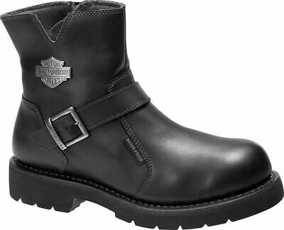$ CDN136.77 • Buy Harley Davidson Williams Mens Riding Biker Leather Side-Zip Boots