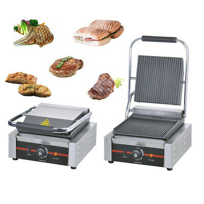Commercial Electric 1.8kW Single  Panini Machine Contact Grill WSKY88 • 127.99£