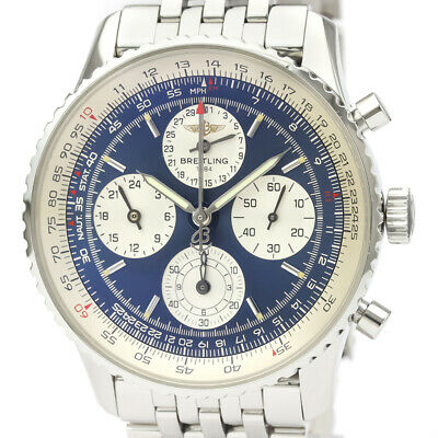 £3267 • Buy Polished BREITLING Navitimer Twin Sixty Steel Automatic Watch A39022 BF522067