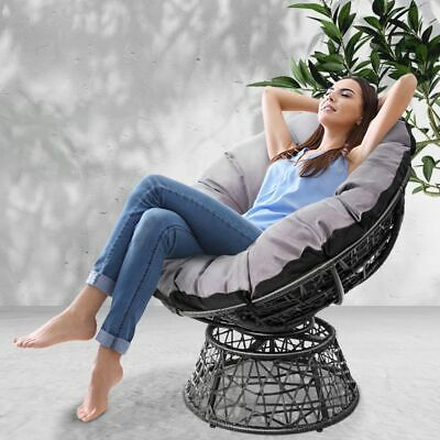 AU179.19 • Buy Gardeon Outdoor Lounge Setting Furniture Papasan Chairs Wicker Sofa Patio Garden