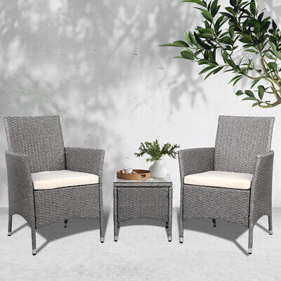 AU199.20 • Buy Gardeon Patio Furniture Outdoor Setting Bistro Set Chair Side Table 3 Piece