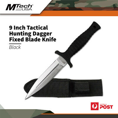 AU25 • Buy Mtech Black 9 Inch Tactical Outdoor Hunting Dagger Fixed Blade Knife Mt-097Sl
