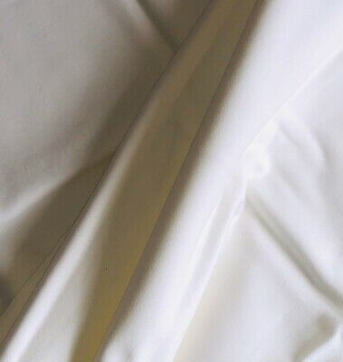 £3 • Buy Thick Heavy Cotton Stretch Jersey Fabric 1 Metre Ivory Cream Soft Quilt Dress