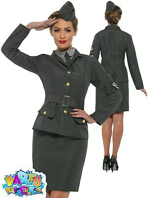 £22.99 • Buy Ladies WW2 Army Girl Costume 1940s Adult World War Fancy Dress Womens Outfit