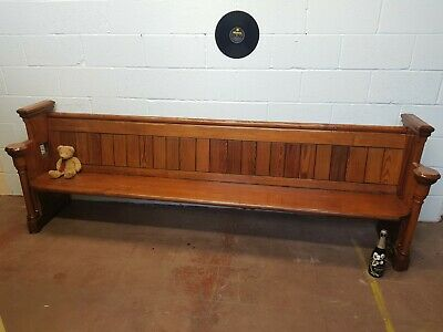£295 • Buy Vintage Church Pew Pub Bench Hall Seat Kitchen Seating FREE MANCHESTER DELIVERY