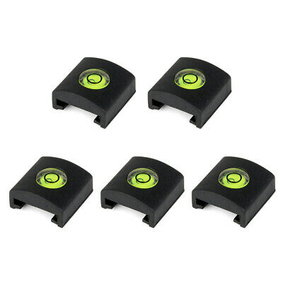 £4.55 • Buy 5pcs/set Camera Bubble Level Silicone Hot Shoe Cover With Spirit Level