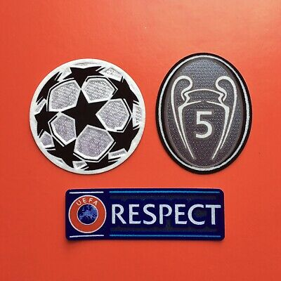 £9 • Buy UEFA Champions League Star Ball + BOH 5 + RESPECT Set Patch Badge IRON ON