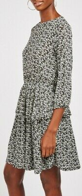 £9.95 • Buy New Stradavarious Size M 10 12 Tiered Smock Tea Dress Floral Ditsy