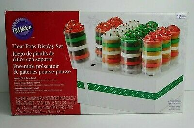 Wilton Treat Pops Cake Display Set 12 Containers Fill-N-Serve Stand New Open Box • 13.58£