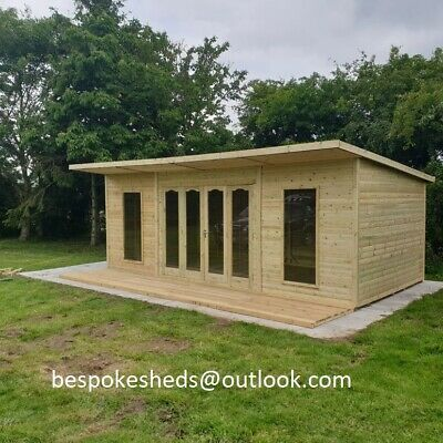 £3750 • Buy Summer House Contemporary Veranda Shed Log Cabin Tanalised Delivery 8-14 Weeks