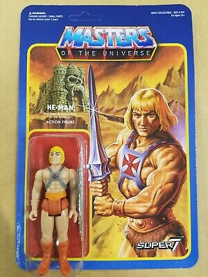 $24 • Buy Super7 Masters Of The Universe He-Man ReAction Figure Wave 2 Variant Unpunched!