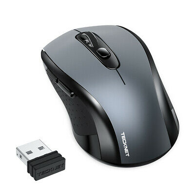 £7.99 • Buy TECKNET Wireless Cordless Mouse USB Optical Scroll 2.4GHz For PC Laptop Computer