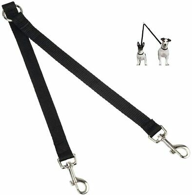 AU36.90 • Buy Dog Lead Splitter Two Way Double Leash Strong 1 To 2 Coupler Twin Black