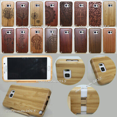 AU16.22 • Buy Genuine Carved Wood Case Bamboo Cover For Samsung Galaxy S9+ Plus S9 S8 S7 Edge