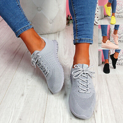 $ CDN17.14 • Buy Womens Ladies Running Trainers Sports Sneakers Knit Lace Up Women Shoes Size