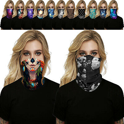 $10.28 • Buy Outdoor Sports Bandana Cycing Tube Face Mask Head Scarf Neck Gaiter Mouth Cover