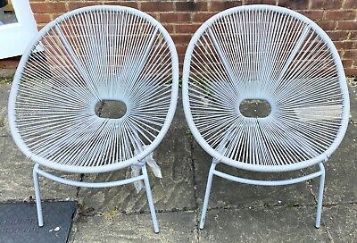 £99.99 • Buy Marks And Spencer Garden Furniture Armchair Chair Set Of 2 Grey Lois Rattan