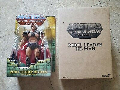 $164.99 • Buy MOTUC William Stout Rebel Leader He-Man MASTERS OF THE UNIVERSE CLASSICS SUPER 7