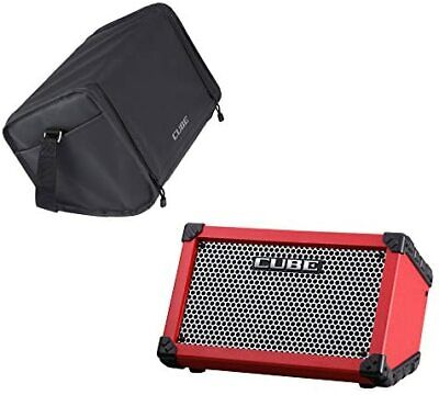 AU565.46 • Buy ROLAND CUBE Street RED Dry Battery Driveable Guitar Combo Amp Carrying Bag Set