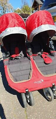 £60 • Buy Baby Jogger City Mini Red/Black Standard Double Seat Stroller