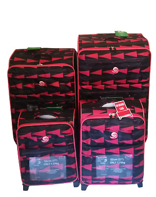 £24.99 • Buy Azure Super Lightweight Luggage Set Of 4 Travel Bags Suitcase Cabin Approved
