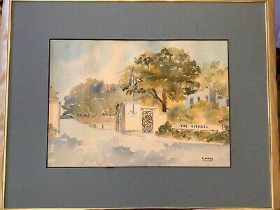 $99.99 • Buy THE CITADEL The Military College Of South Carolina Watercolor By B. Whitley
